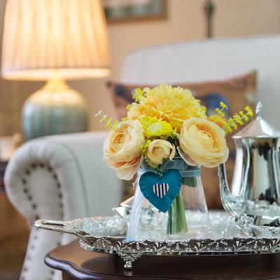高檔模擬花成品 客廳餐桌擺放絹花套裝  -bri008