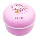 台灣製三麗鷗Hello Kitty凱蒂貓爽身粉粉撲盒(有附粉撲)旋轉盒蓋設計不倒出