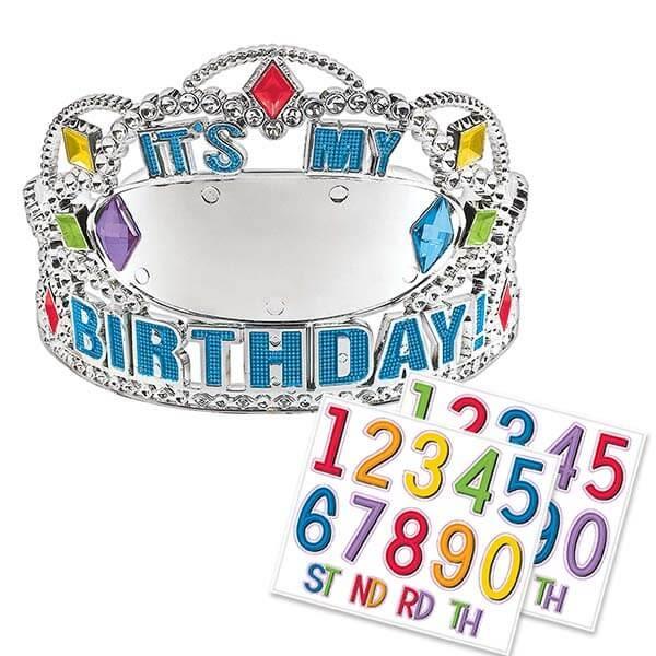 塑膠皇冠1入(附歲數)-我的生日