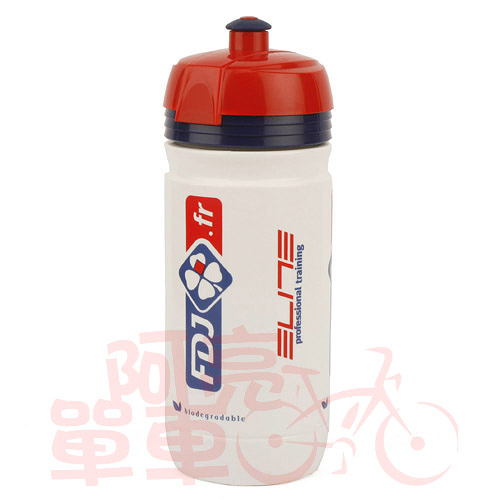 *阿亮單車*ELITE CORSA TEAMS環法車隊水壺-白底【FDJ】(550ml)《B23-198-2》