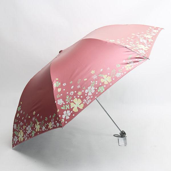 黑膠防紫外線太陽傘晴雨傘折疊防曬女超輕小迷你遮陽鉛筆傘 母親節禮物