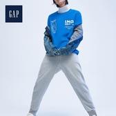 Gap男裝草莓音樂節合作款加絨圓領休閒上衣555249-鈷藍色