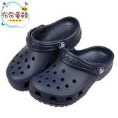 《布布童鞋》Crocs卡駱馳經典款深藍色兒童布希鞋(16.5~21公分) [ V0A410B ]