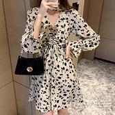 洋裝 印花連身裙-媚儷香檳-【FD0038】