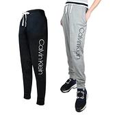 【南紡購物中心】Calvin Klein 經典CK彈性抽繩休閒運動長褲(2入組)-黑/灰
