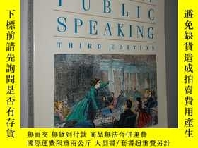 二手書博民逛書店The罕見art of public speaking 3ED