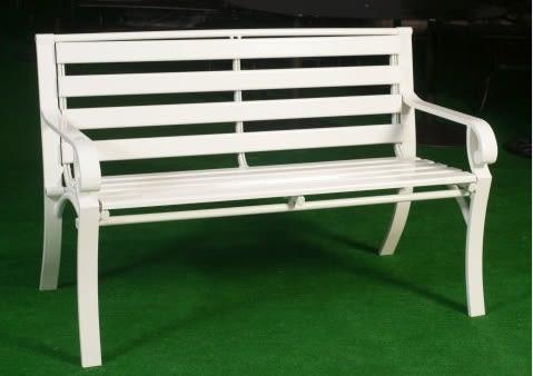 【南洋風休閒傢俱】公園桌椅系列 - 4尺鋁條公園椅 鋁合金公園椅 騎樓等待椅 戶外公園椅(A110100)