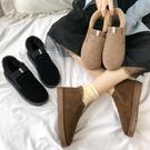 雪靴 秋冬季新款棉鞋女百搭平底防滑短靴子...