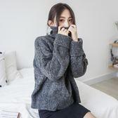 毛衣 加厚高領保暖長袖針織衫寬松顯瘦套頭毛衣 巴黎春天