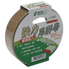 【奇奇文具】北極熊 CLT2415i棕色布紋膠帶24mm×15yds