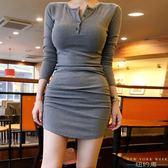 洋裝 性感包臀裙歐美顯胸連身裙