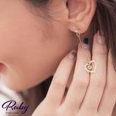 耳環 韓國直送‧水鑽愛心矽膠耳鉤式耳環-Ruby s 露比午茶