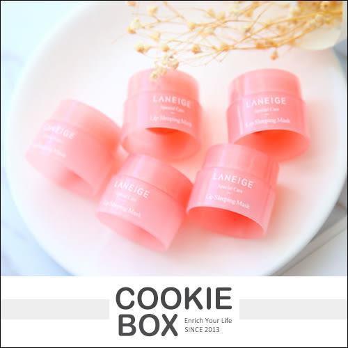 韓國 LANEIGE 蘭芝 睡美人 極萃 滋養 晚安 唇膜 3g 迷你 滋潤 保養 隨身瓶 小樣 *餅乾盒子*