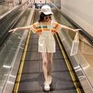 女童吊帶褲 女童吊帶褲夏裝中大童兒童洋氣時尚短褲套裝女孩12歲-Ballet朵朵