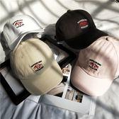 歐美風格鴨舌帽街頭復古軟頂彎檐帽白色棒球帽男女椰子樹帽子