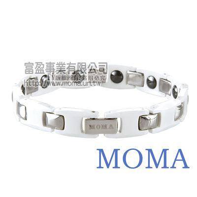【MOMA】陶瓷鍺磁手鍊寬版-M63WM-最佳情人禮