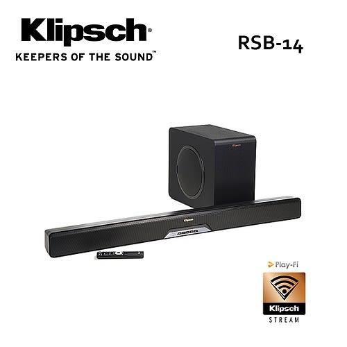 【結帳再折+免費基本安裝】古力奇 Klipsch 藍牙微型劇院 RSB-14 /RSB14 SOUNDBAR+超低音喇叭