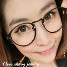 小圓框架清新風格造型眼鏡 066【櫻桃飾...