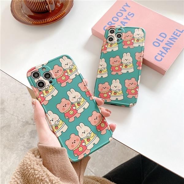 熊熊兔兔手牽手 適用 iPhone12Pro 11 Max Mini Xr X Xs 7 8 plus 蘋果手機殼