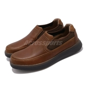 Clarks 休閒鞋 Un Abode Go 棕 男鞋 真皮鞋面 休閒皮鞋 【PUMP306】 CLM37075AC18