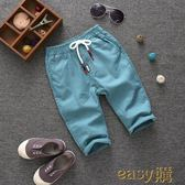 兒童棉麻七分褲夏薄童裝款寶寶沙灘褲