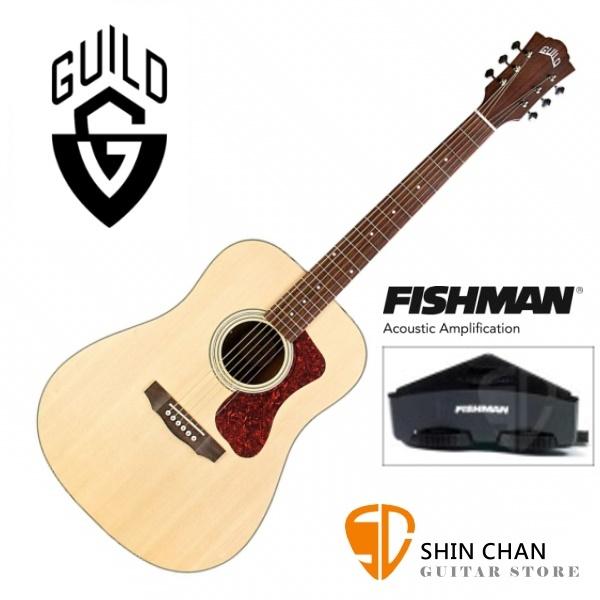 Guild 美國吉他品牌 D-240E 可插電 雲杉面單板/桃花心木側背板 附原廠袋(厚袋)D240E 台灣公司貨