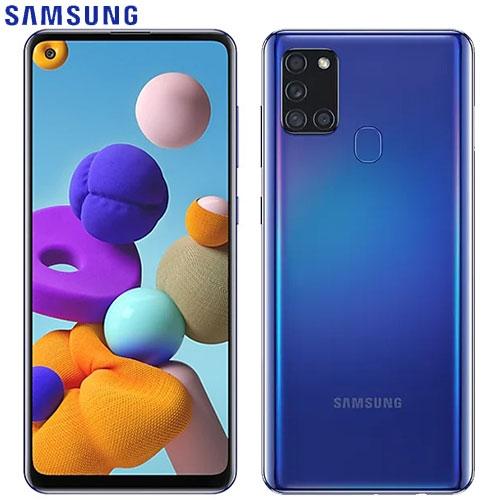 SAMSUNG三星 Galaxy A21s 智慧型手機4G/64G-藍【愛買】