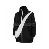 Nike 外套 NSW Woven Swoosh Jacket 黑 白 女款 運動休閒 立領 【PUMP306】 BV3686-011