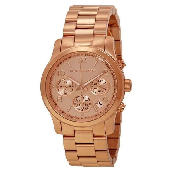『Marc Jacobs旗艦店』美國代購 MK5128 Michael Kors  簡約時尚百搭玫瑰金三眼手錶|100%全新正品|