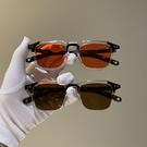 復古韓版新款太陽小方框米釘墨鏡女潮個性眼鏡男圓臉歐美網紅同款 夢幻小鎮