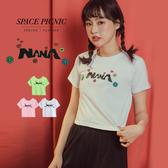 短袖 上衣 Space Picnic NANA小花短版短袖上衣(現貨)【C19053083】