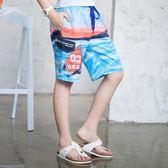 夏威夷度假兒童沙灘褲潮男薄款花短褲海邊寬鬆速干純棉印花短褲子【居享優品】