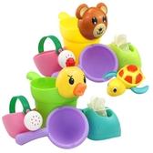 兒童洗澡玩具軟膠戲水車寶寶灑水壺套裝沙灘【聚寶屋】