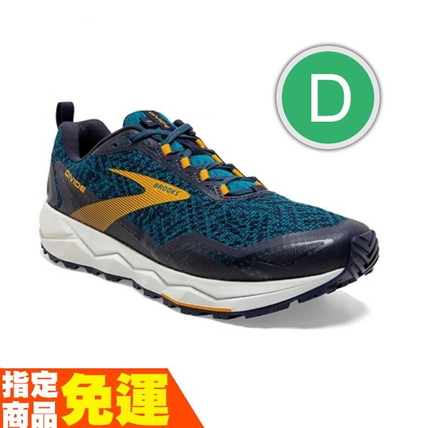 BROOKS 避震緩衝 男慢跑鞋 越野 DIVIDE 分水嶺系列 藍黃 D 1103331D435 贈1襪 20SS