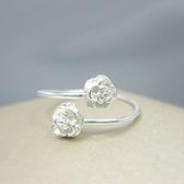 925純銀戒指-美麗簡單玫瑰花生日母親節禮物女配件73ae181【巴黎精品】