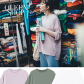 Queen Shop【01038327】素面圓領前短後長TEE 三色售*現+預*