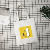 韓國牛津帆布包包女單肩chic文藝簡約百搭清新小學院風學生購物袋-黑色地帶