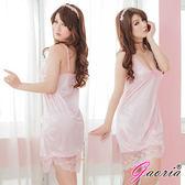 情趣用品 性感情趣睡衣專賣店推薦魅惑無限 性感露乳絲綢睡衣睡裙 粉