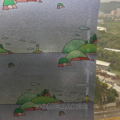 韓國彩繪自黏窗貼_HY-HEG018A (買一送一)