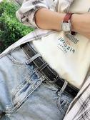 皮帶無需打孔全身鏤空韓國女生皮帶黑色配牛仔腰帶簡約chic 休閒風奈斯女裝