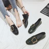 ins小皮鞋女學生韓版百搭ulzzang潮復古英倫chic單鞋秋季   『歐韓流行館』