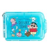 小禮堂 蠟筆小新 方形七格藥盒 (藍點心款) 4718733-26102