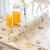 軟玻璃加厚PVC桌布防水防燙透明餐桌墊塑料台布膠墊水晶板茶幾墊HRYC【快速出貨】