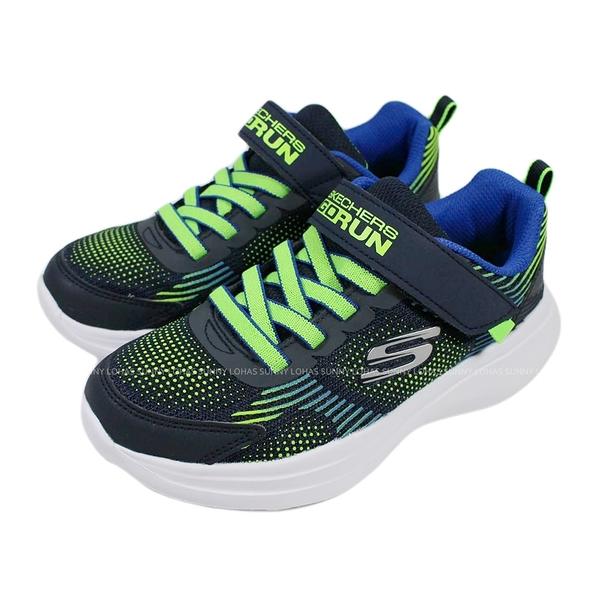 (B9) SKECHERS 男童鞋 GO RUN FAST 慢跑運動鞋 魔鬼氈 405020LNVLM藍綠 [陽光樂活]
