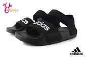 adidas ADILETTE SANDAL K 涼鞋 中大童 成人女款 露趾 夏日出遊 休閒涼鞋 R9308#黑色◆OSOME奧森鞋業