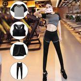 1111購物節-瑜伽服套裝-新款顯瘦速幹健身房跑步運動速幹套裝女專業瑜伽服