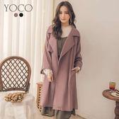 東京著衣【YOCO】美型百搭法式感垂墜感風衣外套-S.M.L(181555)