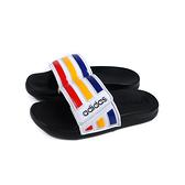 adidas ADILETTE COMFORT ADJK 運動拖鞋 白/紅黃藍 童鞋 FY8840 no938