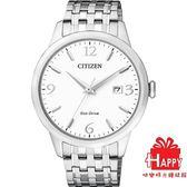 CITIZEN 星辰   光動能簡約時尚腕錶  BM7300-50A   -銀白