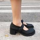 娃娃鞋 夏復古粗跟厚底瑪麗珍大頭鞋女網紅學院風英倫小皮鞋娃娃單鞋【快速出貨】